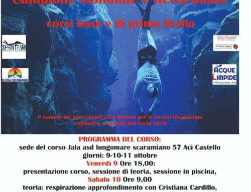 Gianluca Genoni: corso di apnea ad Acicastello